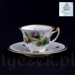 Dzika róża na białej porcelanie marki Rosenthal Bavaria