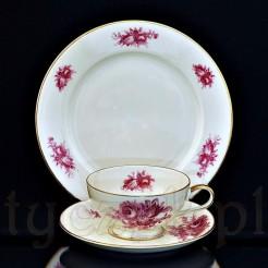 3-elementowy zestaw śniadaniowy dla miłośników zabytkowej cennej porcelany