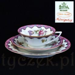 Ekskluzywny zestaw śniadaniowy do herbaty sygnowany Rosenthal Konigshof