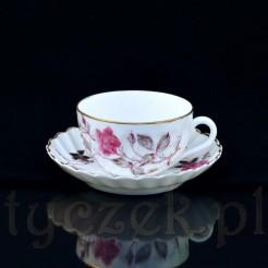 Unikatowa filiżanka do kawy typu mokka wraz z oryginalnym spodkiem ze śląskiej porcelany