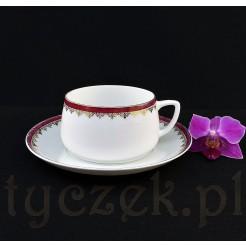 Urocza śląska filiżanka porcelanowa