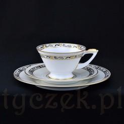 TRIO z lat trzydziestych z markowej porcelany śląskiej