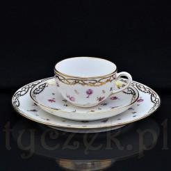 Eleganckie trio ze szlachetnej porcelany malowanej ręcznie
