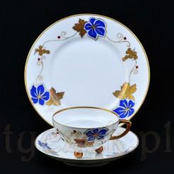 Kolekcjonerskie TRIO ze śląskiej porcelany dwóch fabryk