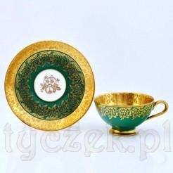 Niepowtarzalne złocenia z trawionym ornamentem na markowej porcelanie