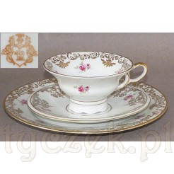 Kolekcjonerska porcelanowa filiżanka sygnowana turyńskim znakiem rycerza