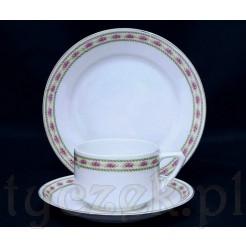 Trzyczęściowy zestaw śniadaniowy ze szlachetnej bawarskiej porcelany