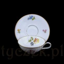 Komplet z bawarskiej porcelany w białym kolorze do mokki