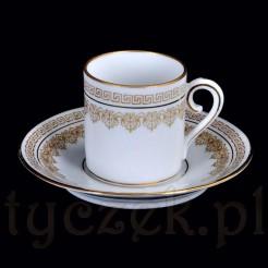 Filiżanka w stylu Empire stara porcelana Bohemia