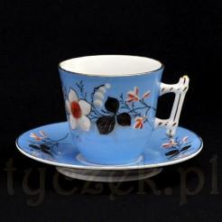oryginalna filiżanka porcelanowa XIX wiek