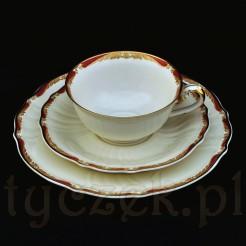 Ecru porcelana szlachetna Rosenthal z piękną dekoracją
