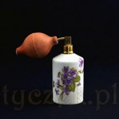Uroczy fiołkowy flakon do przechowywania perfum z oryginalnym dyfuzorem