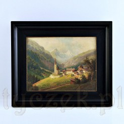"""Alpejski pejzaż zatytułowany """"Heiligenblut mit dem Großglockner"""""""