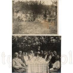 Rodzinne świętowanie na łonie natury na dwóch pamiątkowych zdjęciach