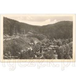 panorama gór i lasów uzdrowiska Duszniki Zdrój