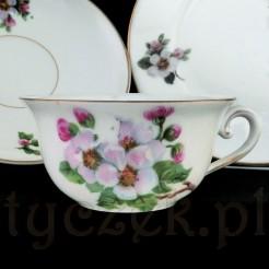 Sląska porcelana - pięknie zdobiona filiżanka