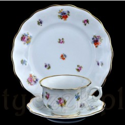 Furstenberg markowe trio z dawnej i cennej porcelany