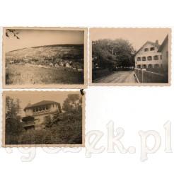 Dawna zabudowa ukazana na czarno białych fotografiach