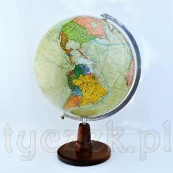 Duży reprezentacyjny globus z mapą polityczną świata