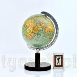 Sygnowany globus z mapą polityczną świata