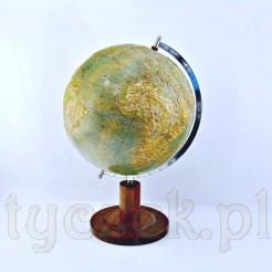 Kolekcjonerski sygnowany globus z lat 50.