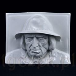 Śląska figurka z porcelany - stara płaskorzeźba