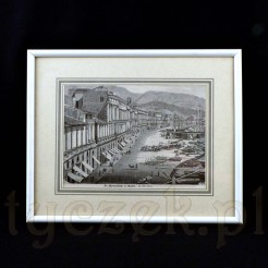 Widok na ulicę portową we włoskim mieście Messina.