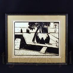 Znamienita grafika z zakonnicami Maurice'a Brocasa