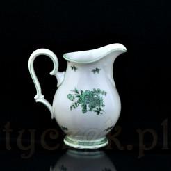 Oryginalny dzbanuszek do mleka w zielone kwiaty