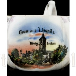 "Widok z napisem ""Gruss aus Liegnitz Konigl. Schloss"""