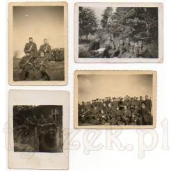 Pamiątkowej zdjęcia żołnierzy polskich podczas ich służby w wojsku
