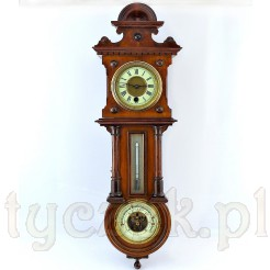 Wyjątkowy okaz do wyjątkowego wnętrza -zabytkowy zegar ze stacją pogody