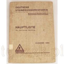 Dawny katalog ceramiki kanalizacyjne oraz laboratoryjnej