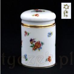 Herbatnica z porcelany ręcznie malowanej i sygnowanej