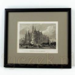 Zabytkowy souvenir z widokiem na Ratusz w dawnym Bresłau.