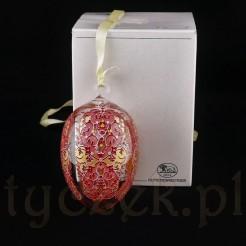 Piękne szklane jajo marki Hutschenreuther.