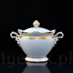 Przepiękna porcelanowa cukiernica