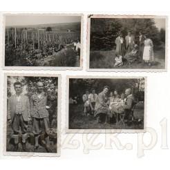 Zdjęcia plenerowe z 1934 r. Możemy zobaczyć modę damską i męską z dawnych lat.