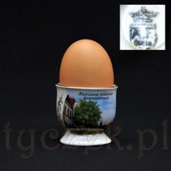 Kolekcjonerski kieliszek na jajko z widoczkiem Schlesien