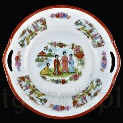 Porcelanowa patera w typie orientalnym
