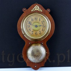 Luksusowy zegar wiszący JUNGHANS z okresu secesji