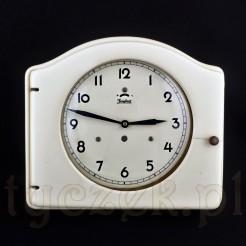 Niezwykły zegar ścienny w ceramicznej, szczelnej obudowie zabytkowej