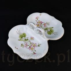 Wyjątkowy dwojak porcelanowy na przystawki
