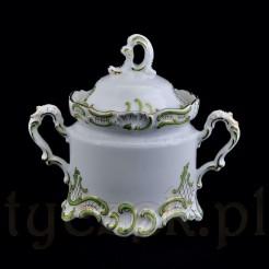 Ekskluzywna porcelanowa cukiernica z markowej porcelany Kaestner