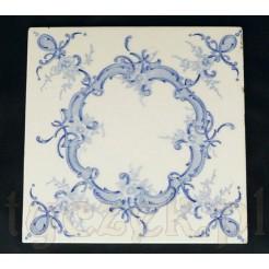 Dekoracyjny antyczny kafel z XIX wieku