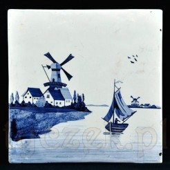Antyk z ceramiki zdobionej wzorem holenderskim