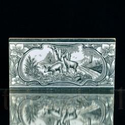 Zabytkowy kafel myśliwski z ceramiki Meissen