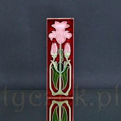 Jugendstil na ceramicznym kafelku zdobionym stylowym motywem