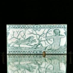 Stylowy kafel z Miśni koniec XIX wieku