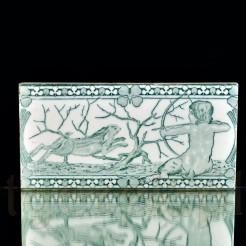 Motyw Centaura na polowaniu - stylowy kafel z końca XIX wieku stara Miśnia